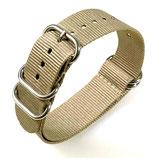 22mm ZULU Armband Nylon khaki (ZULU05-22mm)