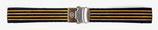 18mm VOSTOK Armband aus Silikon, schwarz mit orange Streifen