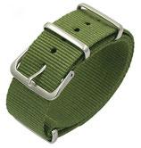 18mm NATO Armband Nylon grün
