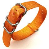 22mm ZULU Armband Nylon Orange (ZULU04-22mm)