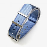22mm NATO Armband Nylon meerblau, speziell passend zum SCUBA DUDE Zifferblatt 059