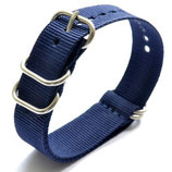 22mm ZULU Armband Nylon Blau (ZULU02-22mm)