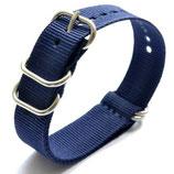 22mm ZULU Armband Nylon Blau (ZULU02-22mm)