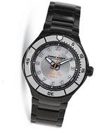"""Automatik Taucheruhr """"AMFIBIA BLACK SEA"""" von Wostok, 200m wasserdicht, Edelstahl, schwarz PVD beschichtet, ø42mm,"""