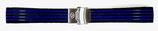 20mm VOSTOK Armband aus Silikon, schwarz mit blauen Streifen