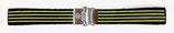 20mm VOSTOK Armband aus Silikon, schwarz mit gelben Streifen
