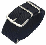 18mm NATO Armband Nylon schwarz