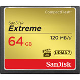 SanDisk 64GB Extreme CF Memory Card $10 day / $30 week  / $100 per month