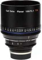 Zeiss Compact Prime CP.2 100mm t2.1 EF/PL Lens $100 day / $300 week  / $1000 per month