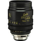 Cooke 75mm T2.8 Mini S4/i Lens $115 day / $345 week    / $1150 per month