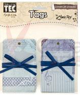 Vintage Tags blauw