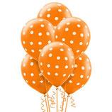 Ballonnen oranje met wit stippen