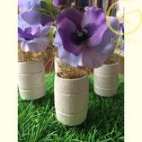 Set van 4 mini vat bloemen