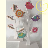 Decorative houten vogelboompje