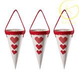 Decoratieve cones met hartje