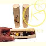 Trendy houten cylinder doosje