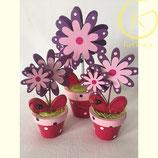 Decorative houten bloemen