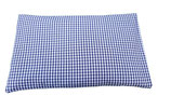 Zirbenkissen 30x20 blau/weiß