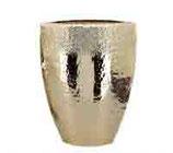 Vase champagner gold, Aluminium, 50 cm