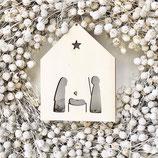 Weihnachten, Haus, 10cm