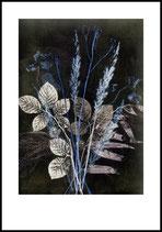 Wild Bouquet, blue. 70x100