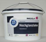 Hochglanzlatex Mega 325 12,5 l weiß / Decken-und Wandfarbe - hochglänzende Latexfarbe / Top Innenfarbe / Profi-Qualität