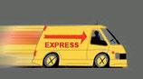 Expressbearbeitung inklusive Expressversand