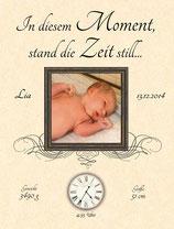 In diesen Momenten stand die Zeit still Baby Hochzeit - individualisierbar