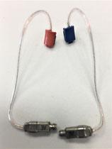 Ex-Hörer Audio Service (flacher Anschluss rot/blau)