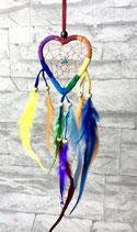 Traumfänger Rainbow Herz