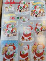 Carta 3D Babbo Natale