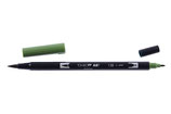 Pennarello Dual Brush Tombow col. 158 Dark Olive