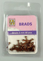 Brads Copper 3 mm 40 pcs