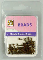 Brads Brown 3 mm 40 pcs