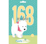 168 Stickers Family Friends Dog