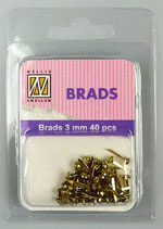 Brads Gold 3 mm 40 pcs