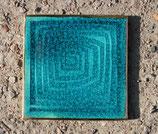 handgemachte Labyrinth Dekorfliese türkis