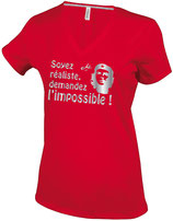 """T-SHIRT F """"SOYEZ REALISTE, DEMANDEZ L'IMPOSSIBLE"""""""