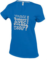 """T-SHIRT F """"VOULEZ-VOUS DANSER AVEC MOI CE SOIR ?"""" Version 2"""