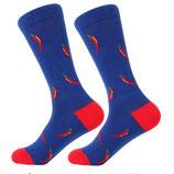 Socken mit Chili, blau