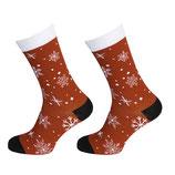 Socken mit Schneeflocken