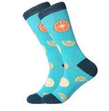 Socken mit Zitrus, blau