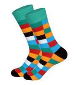 karierte Socken, block freshmint