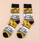 Socken mit Fahrrad