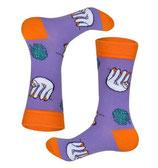 Socken mit Faultier, lila