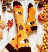 Socken mit Igel, Herbst