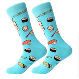 Socken mit Sushi, blau