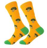 Socken mit Brokoli, gelb