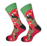 Socken mit Tukan, rot