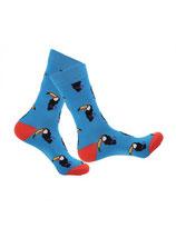 Socken mit Tukan, blau